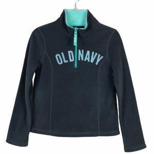 Old Navy Girl's Quarter Zip Fleece Pullover NWOT